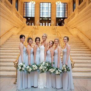 Sorella Vita bridesmaid dress - light gray-size 10